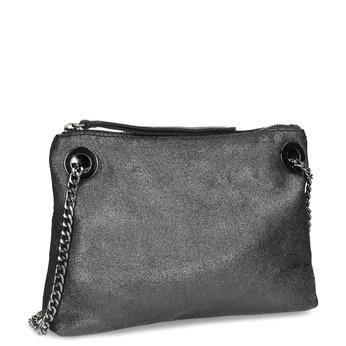 Kožená Crossbody kabelka s řetízkem bata, stříbrná, 964-1602 - 13