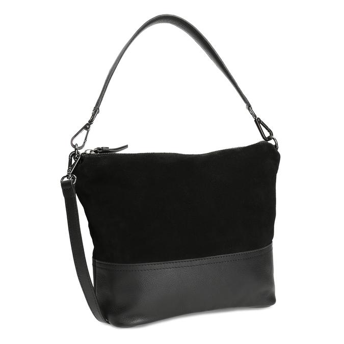 Kožená černá kabelka v Hobo stylu bata, černá, 963-6600 - 13