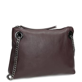 Vínová kožená Crossbody kabelka bata, červená, 964-5602 - 13