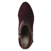 Vínové kotníčkové kozačky s lakovanými pásky bata, červená, 799-5623 - 17