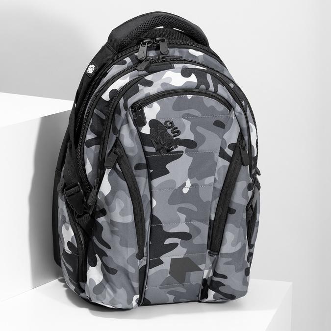 Maskáčový šedý školní batoh bagmaster, šedá, 969-2718 - 17