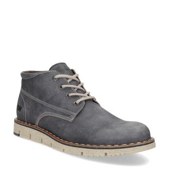 Pánská kožená kotníčková obuv weinbrenner, šedá, 846-2658 - 13