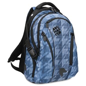 Modrý školní batoh bagmaster, modrá, 969-9718 - 13