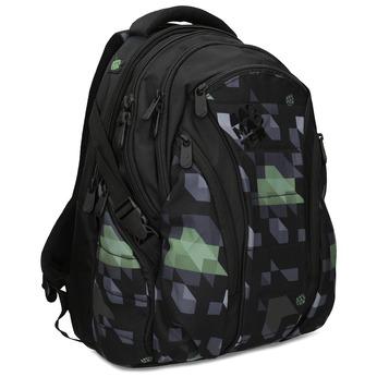 Školní batoh černý bagmaster, zelená, 969-7718 - 13