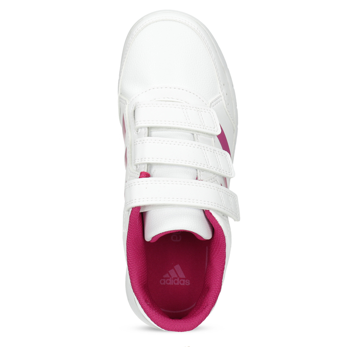 Dívčí bílo-růžové tenisky adidas, růžová, 301-5519 - 17