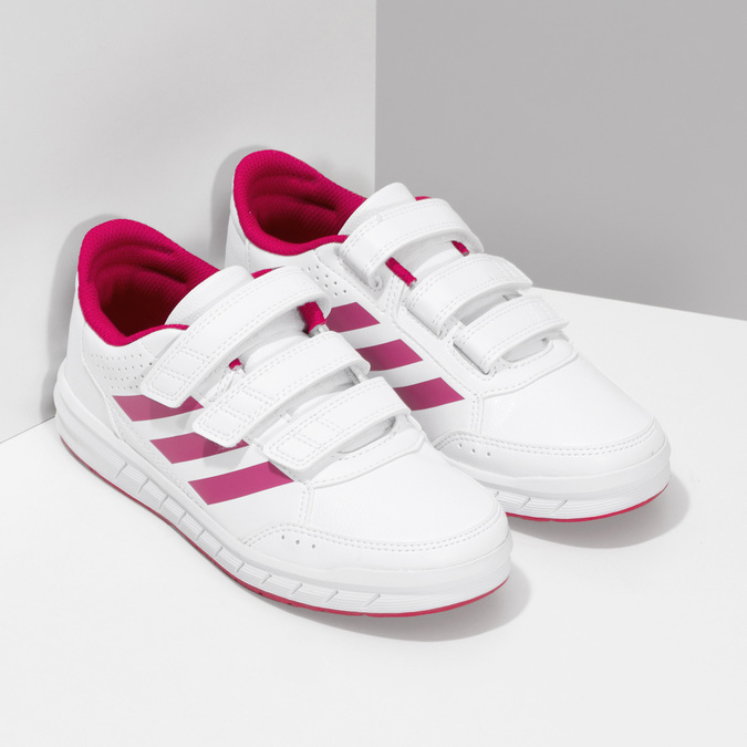 Dívčí bílo-růžové tenisky adidas, růžová, 301-5519 - 26