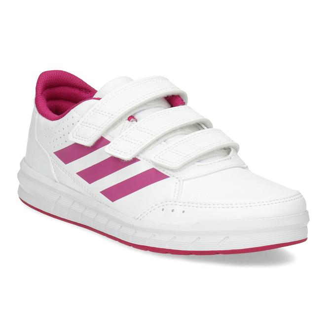 Dívčí bílo-růžové tenisky adidas, růžová, 301-5519 - 13