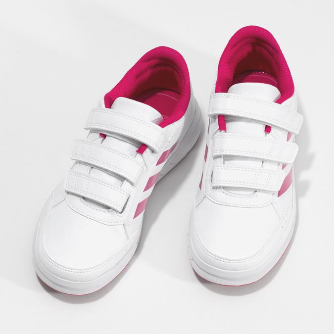 Dívčí bílo-růžové tenisky adidas, růžová, 301-5519 - 16