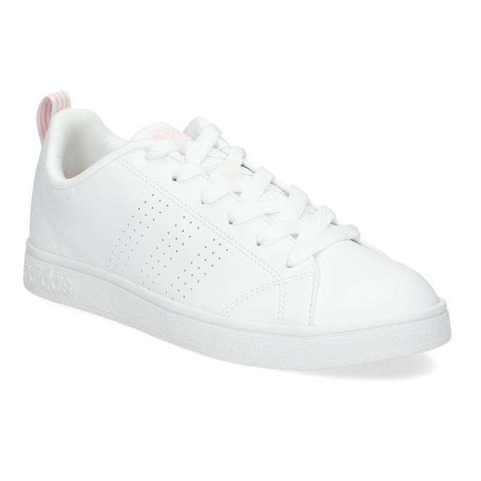 Bílé dámské tenisky s perforací adidas, bílá, 501-1800 - 13