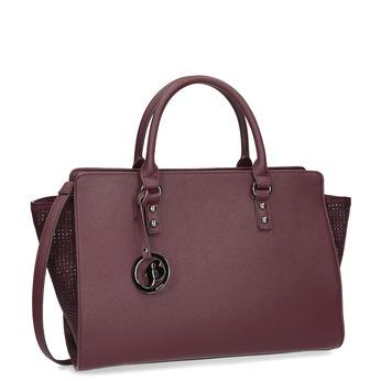 Vínová kabelka s kamínky bata, červená, 961-5881 - 13