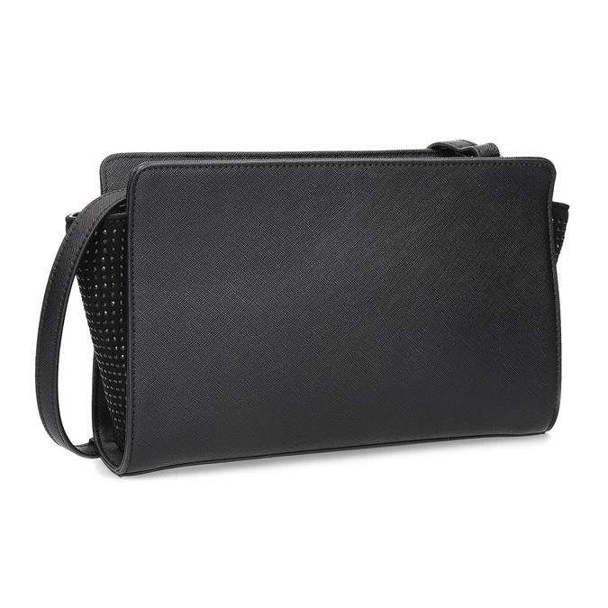 Černá kabelka crossbody s kamínky bata, černá, 961-6885 - 13