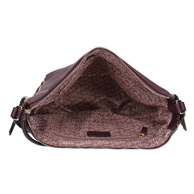 Dámská vínová kabelka se zipy gabor-bags, červená, 961-5050 - 15