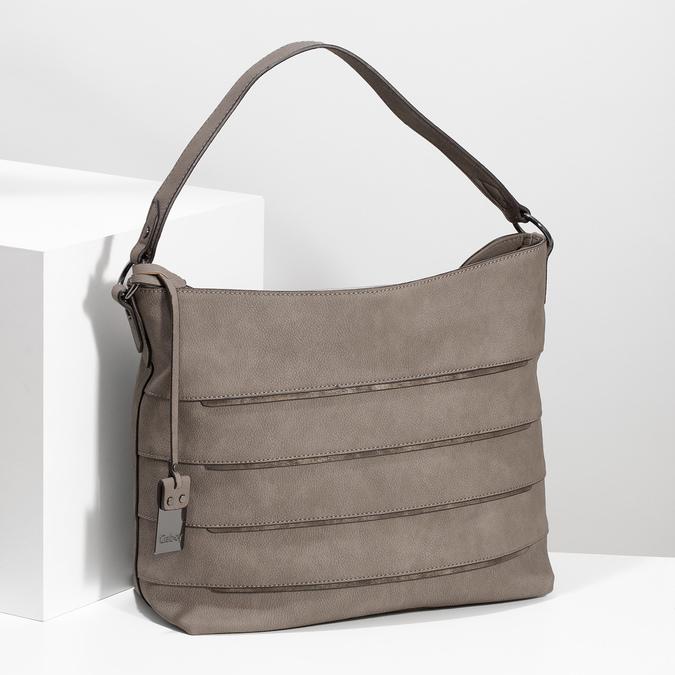 Béžová kabelka s metalickými detaily gabor-bags, béžová, 961-8001 - 17