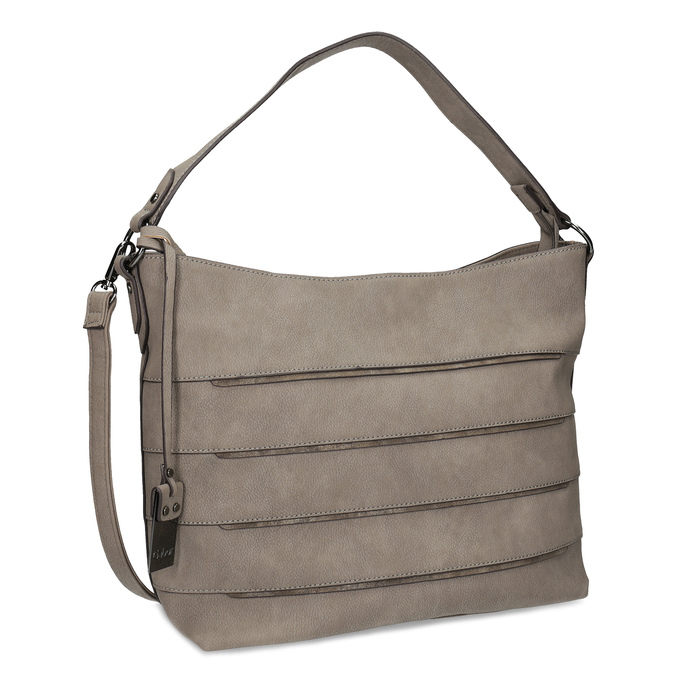 Béžová kabelka s metalickými detaily gabor-bags, béžová, 961-8001 - 13