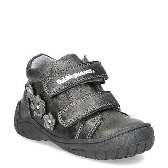 Dívčí kotníčkové boty s kytičkami bubblegummers, šedá, 121-2622 - 13