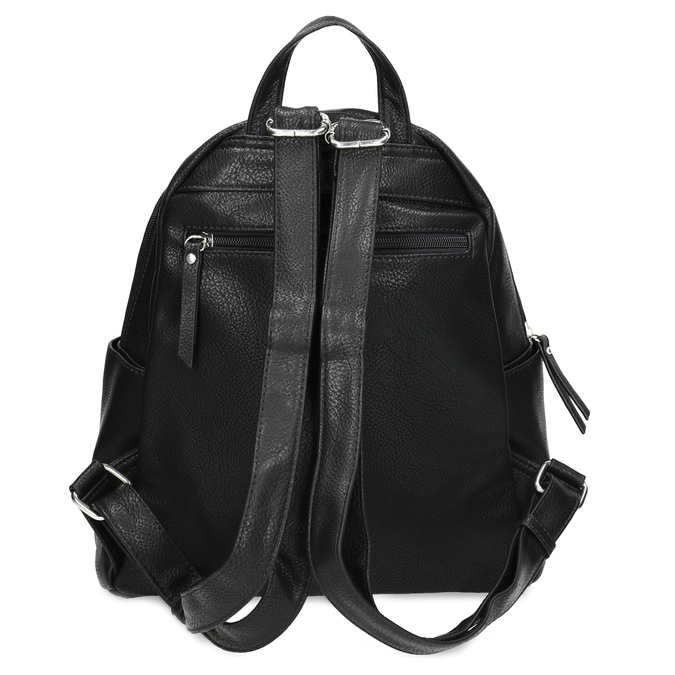 Městský batůžek s bočními kapsami gabor-bags, černá, 961-6072 - 16