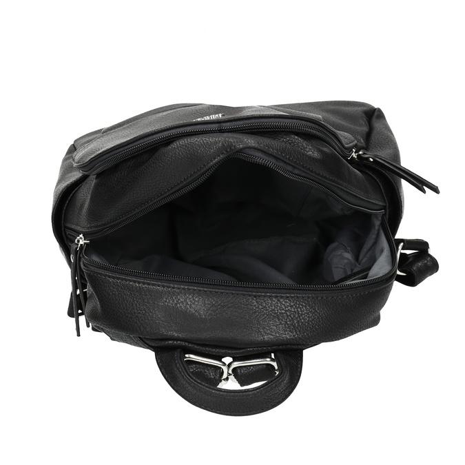 Městský batůžek s bočními kapsami gabor-bags, černá, 961-6072 - 15