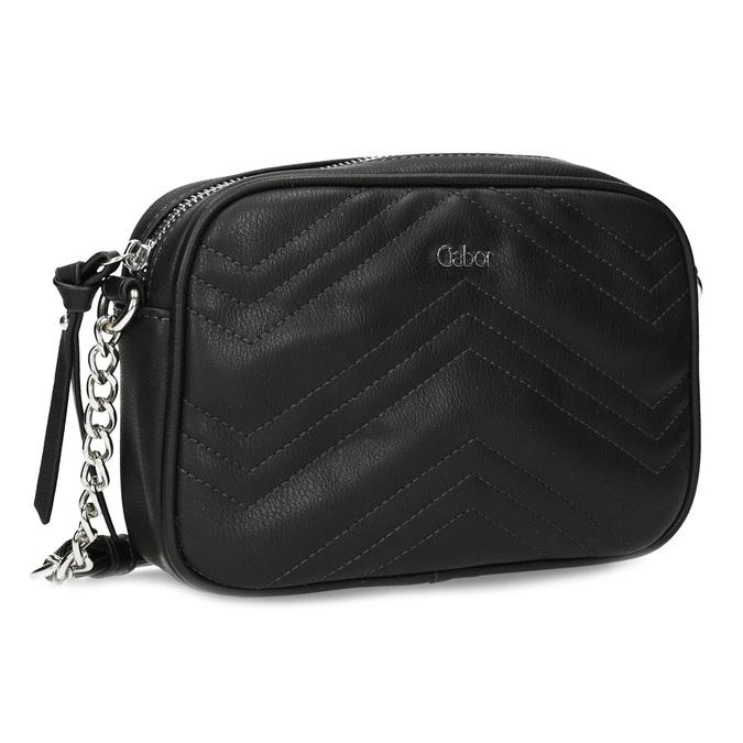 Crossbody kabelka s prošitím černá gabor-bags, černá, 961-6075 - 13