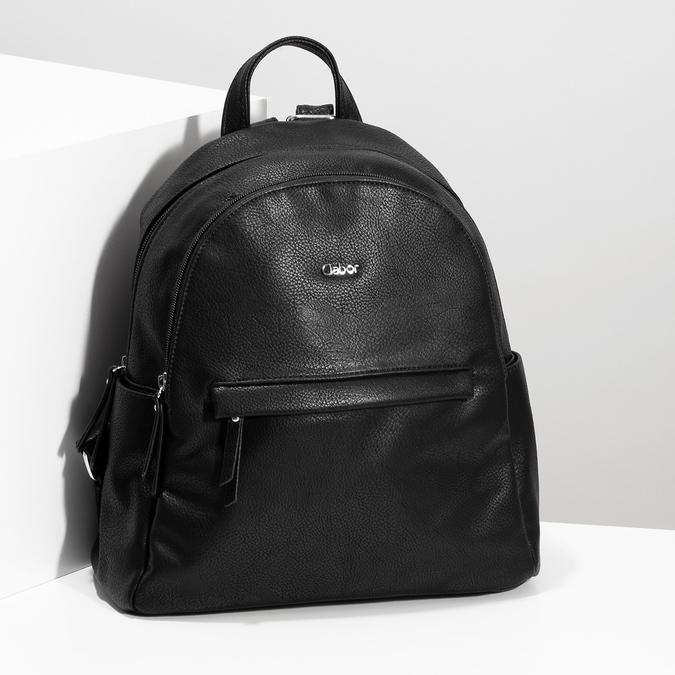 Městský batůžek s bočními kapsami gabor-bags, černá, 961-6072 - 17