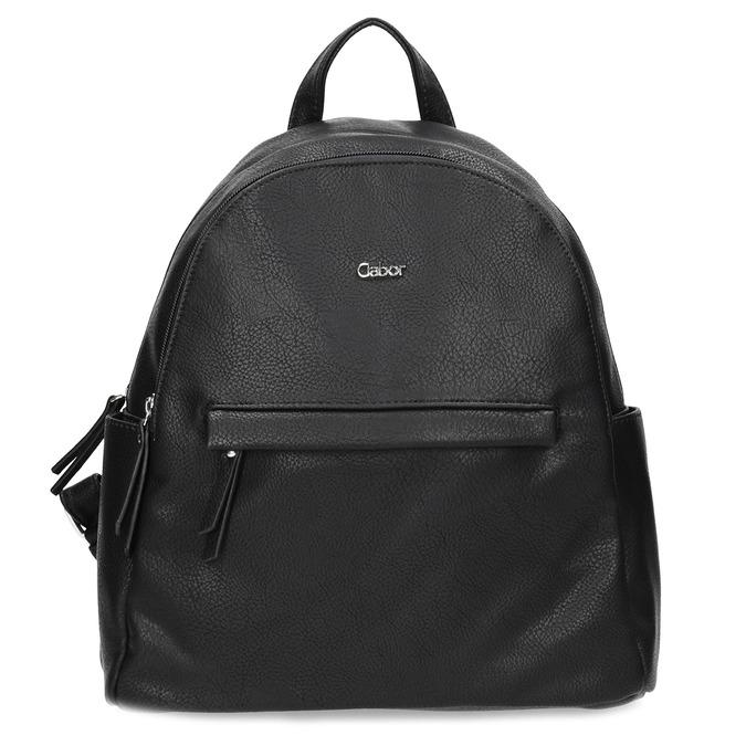 Městský batůžek s bočními kapsami gabor-bags, černá, 961-6072 - 26