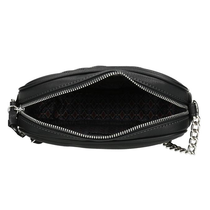 Crossbody kabelka s prošitím černá gabor-bags, černá, 961-6075 - 15