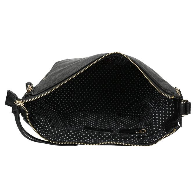 Černá kabelka se zlatými zipy gabor-bags, černá, 961-6086 - 15