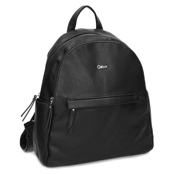 Městský batůžek s bočními kapsami gabor-bags, černá, 961-6072 - 13