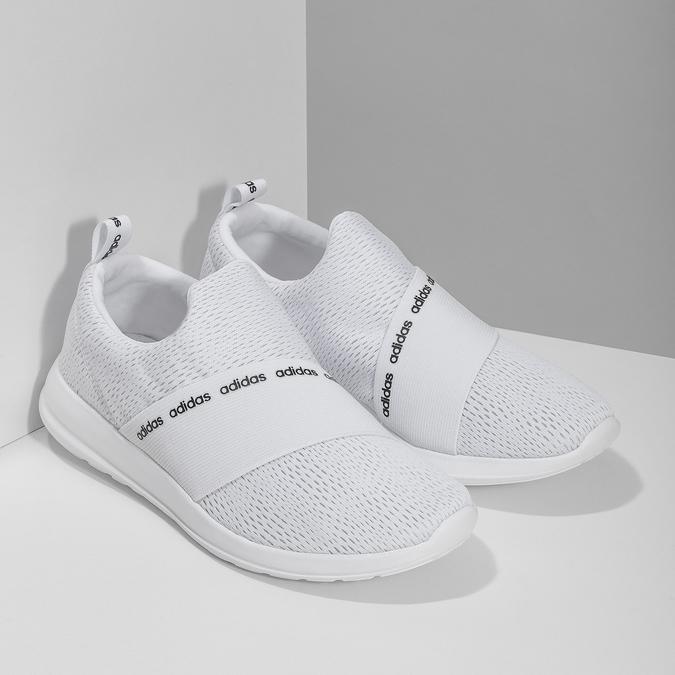 Dámské bílé tenisky s elastickým pásem adidas, bílá, 509-1565 - 26