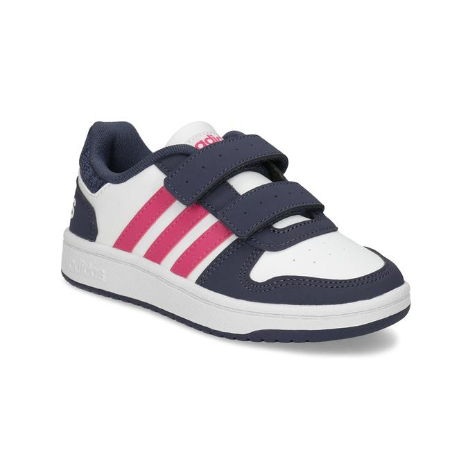 Dětské ležérní tenisky se suchými zipy adidas, bílá, 301-1208 - 13