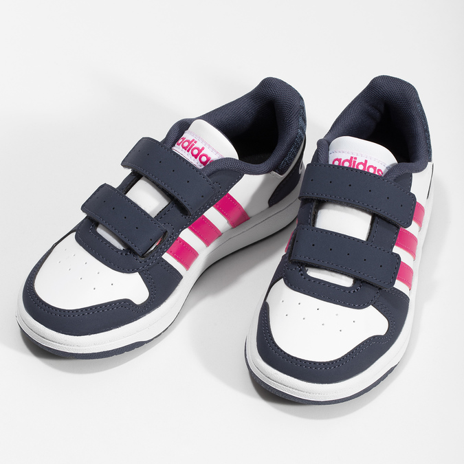 Dětské ležérní tenisky se suchými zipy adidas, bílá, 301-1208 - 16