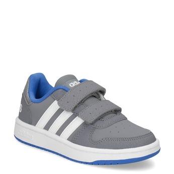 Šedé dětské tenisky se suchými zipy adidas, šedá, 301-2208 - 13