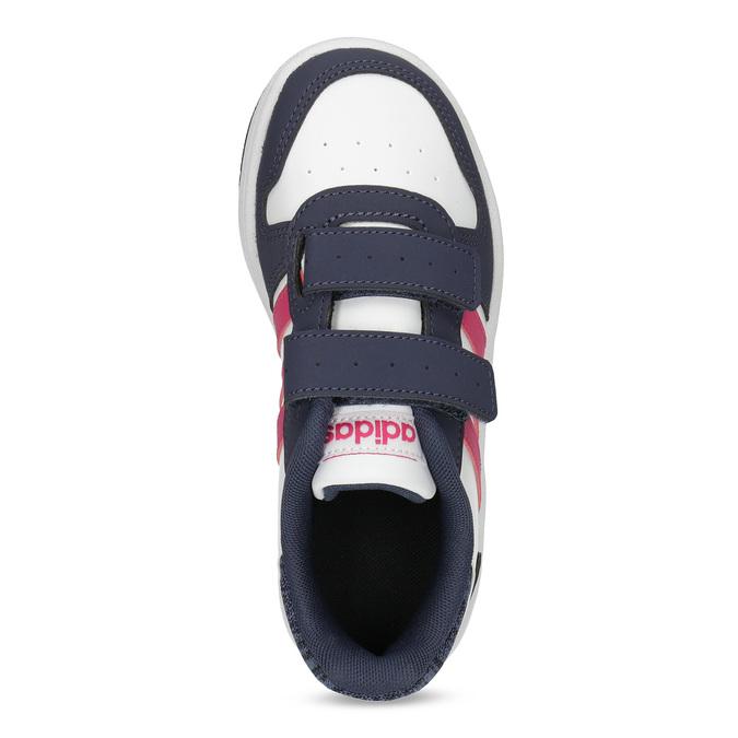 Dětské ležérní tenisky se suchými zipy adidas, bílá, 301-1208 - 17