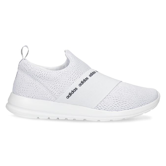 Dámské bílé tenisky s elastickým pásem adidas, bílá, 509-1565 - 19