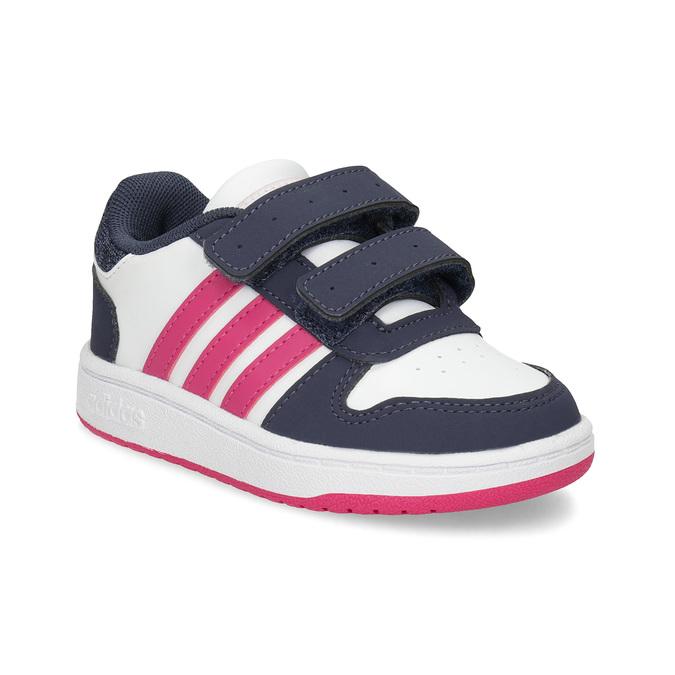 Bílé dětské tenisky na suché zipy adidas, bílá, 101-1194 - 13