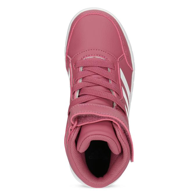 Růžové dětské kotníčkové tenisky adidas, růžová, 301-5220 - 17