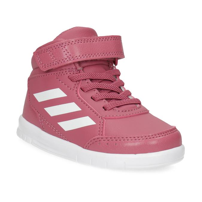 Růžové kotníčkové dětské tenisky adidas, růžová, 101-5220 - 13