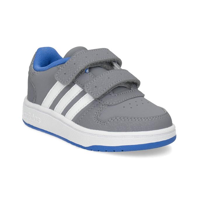 Šedé dětské tenisky s modrými detaily adidas, šedá, 101-2194 - 13