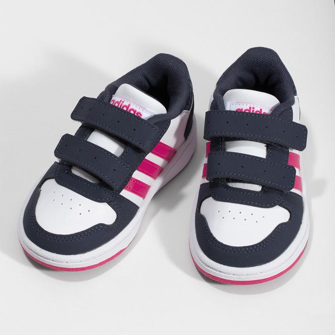 Bílé dětské tenisky na suché zipy adidas, bílá, 101-1194 - 16