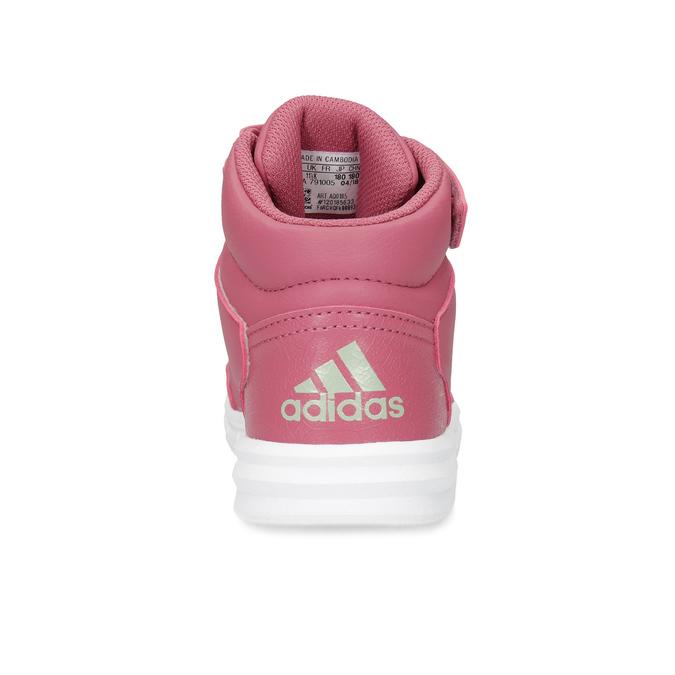 Růžové dětské kotníčkové tenisky adidas, růžová, 301-5220 - 15