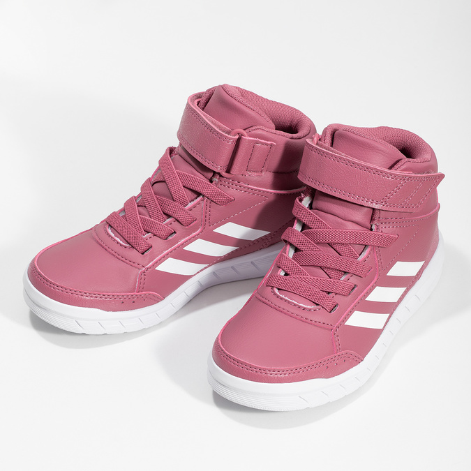 Růžové dětské kotníčkové tenisky adidas, růžová, 301-5220 - 16