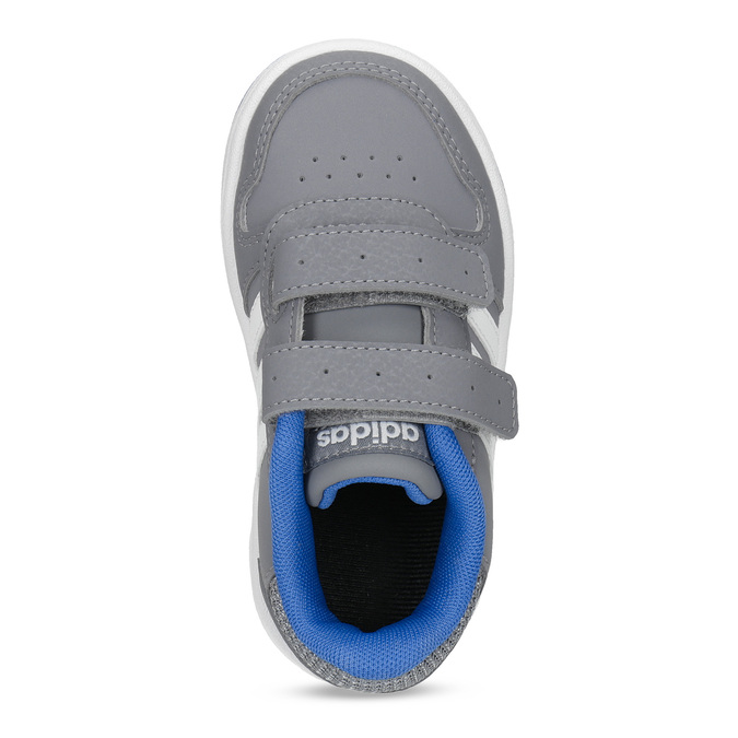 Šedé dětské tenisky s modrými detaily adidas, šedá, 101-2194 - 17