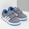 Šedé dětské tenisky s modrými detaily adidas, šedá, 101-2194 - 26