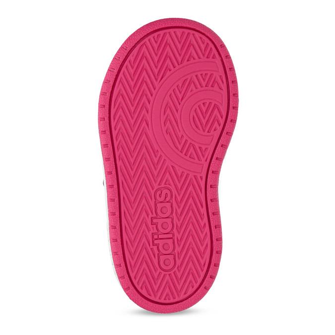 Bílé dětské tenisky na suché zipy adidas, bílá, 101-1194 - 18