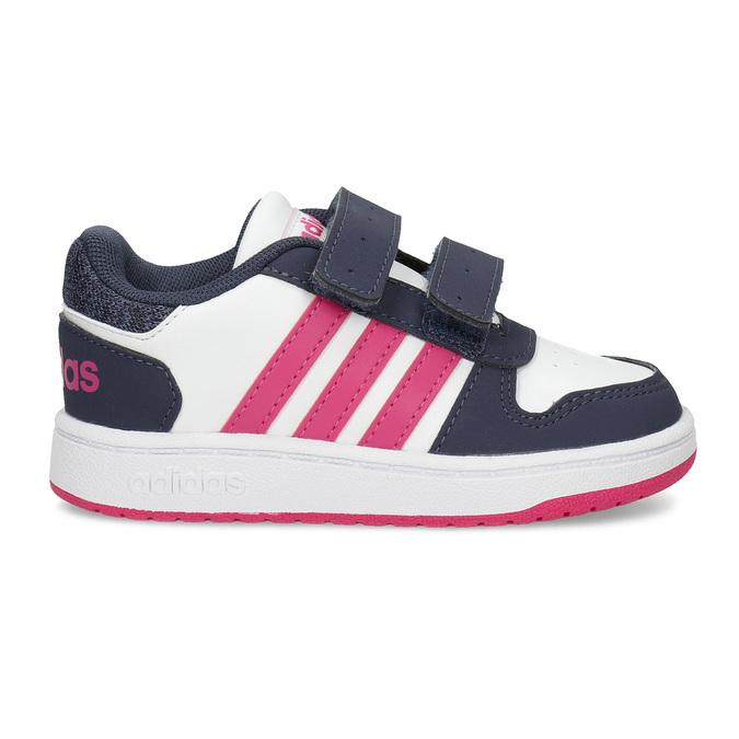 Bílé dětské tenisky na suché zipy adidas, bílá, 101-1194 - 19