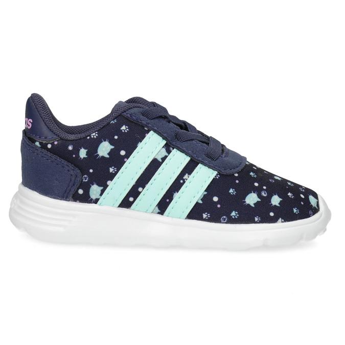 Modré dětské tenisky se vzorem adidas, modrá, 109-9200 - 19