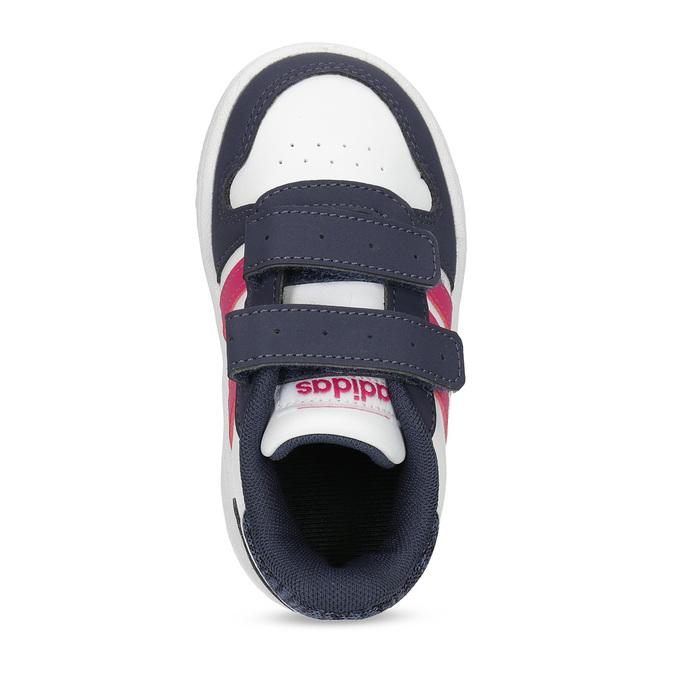 Bílé dětské tenisky na suché zipy adidas, bílá, 101-1194 - 17