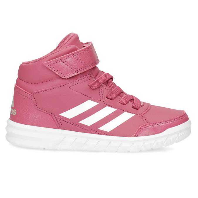 Růžové dětské kotníčkové tenisky adidas, růžová, 301-5220 - 19