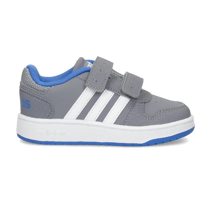 Šedé dětské tenisky s modrými detaily adidas, šedá, 101-2194 - 19