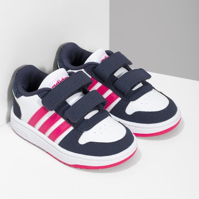 Bílé dětské tenisky na suché zipy adidas, bílá, 101-1194 - 26