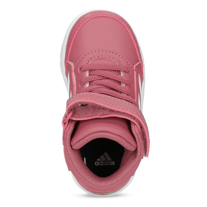 Růžové kotníčkové dětské tenisky adidas, růžová, 101-5220 - 17
